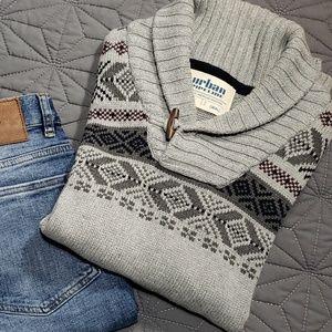 Men's Urban Pipslins Gray Crowl Sweater